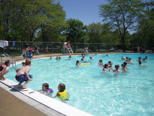 Visitors Swimming in the Marlette Pool